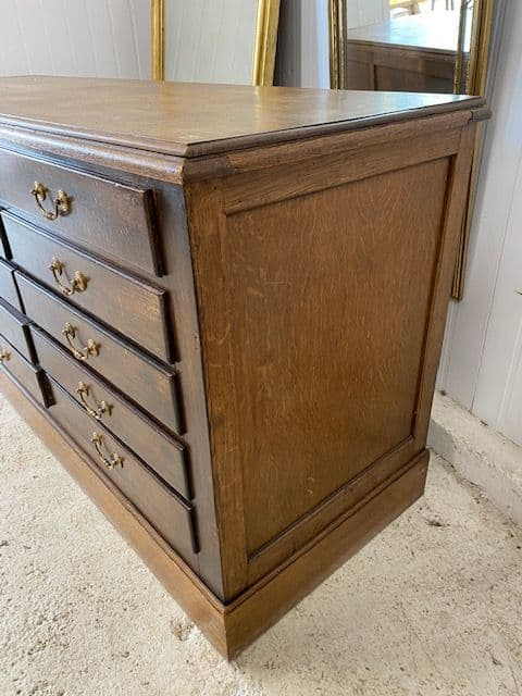 SOLD - Impressive Large Vintage French Bank of Drawers   - a155